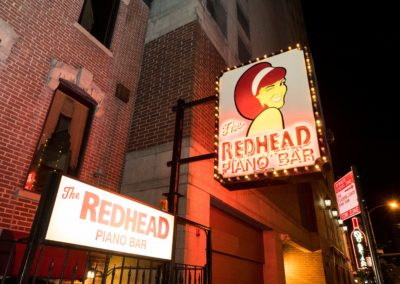 Redhead Piano Bar Front Sign